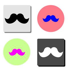 italy mustache flat icon vector image