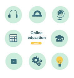 linear online education icon business concept vector image