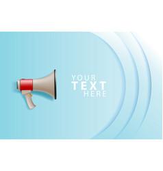 Megaphone white bubble for social media marketing vector