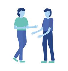 men gesturing hands vector image