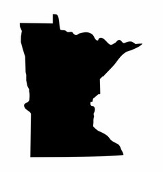 Minnesota silhouette map vector