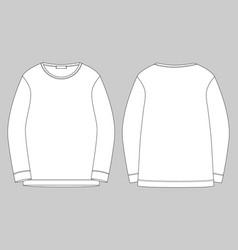 Outline technical sketch for men sweatshirt vector