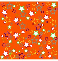Package design with colored stars vector