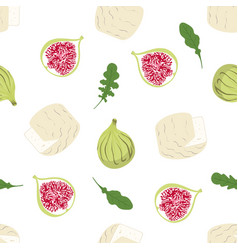 pattern with camembert vector image