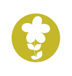 Plumeria flower natural icon vector