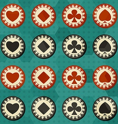 poker card suit seamless vector image