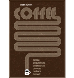 Poster coffee vector