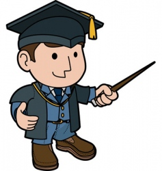 professor in cap and gown vector image