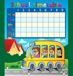School timetable composition 8 vector