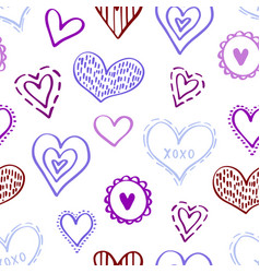 seamless hearts pattern-04 vector image