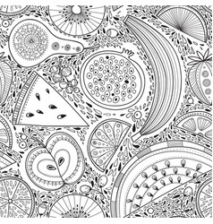 Seamless pattern with nutrient-rich raw fruits vector