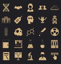 Seo analytics icons set simple style vector