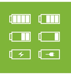 set battery icons vector image