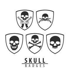 Skull emblem on white background vector