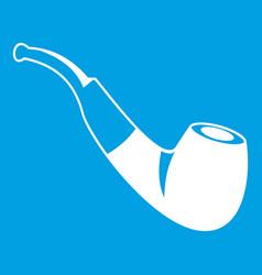 smoking pipe icon white vector image