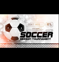 Soccer scoreboard poster design football vector