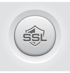 SSL Protection Icon Flat Design vector