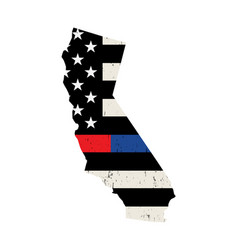 state california police and firefighter vector image