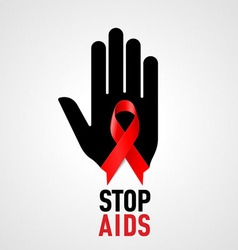 STOP AIDS Symb 01 vector image