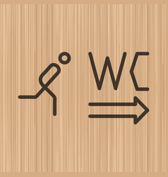 toilet wc doorwall plate vector image