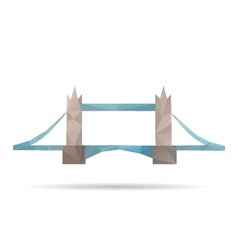 Tower bridge abstract isolated vector image