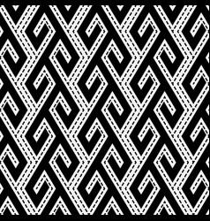 Tribal ethnic monochrome seamless pattern vector