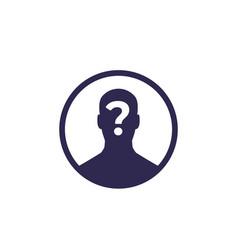 Unknown person icon vector