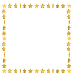 Unusual frame with cute cartoon yellow stars vector