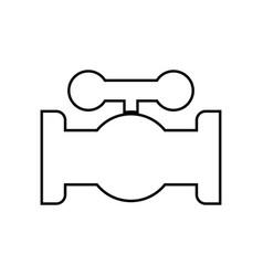 valve it is black icon vector image