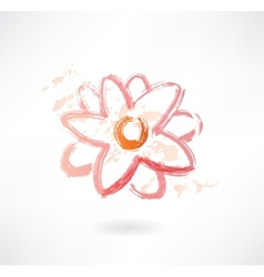 Water lily grunge icon vector
