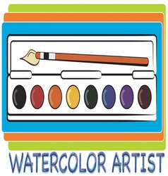 Watercolor Artist vector