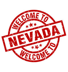 Welcome to nevada red stamp vector