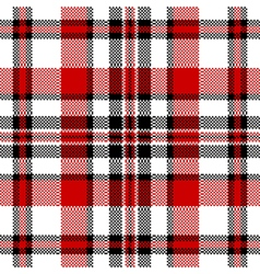 White red check square pixel seamless pattern vector