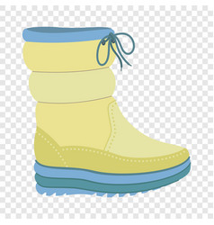 winter warm boot icon flat style vector image
