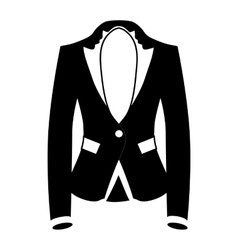 Womens blazer icon simple style vector