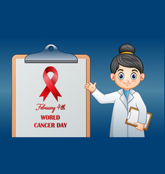 world cancer day february 4 world cancer day des vector image