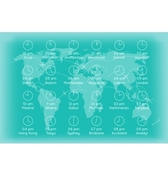 World map with time zones infographics background vector image vector image