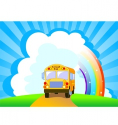 yellow school bus background vector image