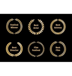 Film awards wreaths vector image vector image