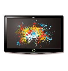 LCD TV splat screen vector image