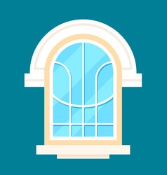 Old style decoration window in flat design vector