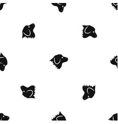 retriever dog pattern seamless black vector image vector image