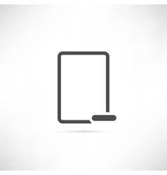 Empty Minus Icon vector image vector image