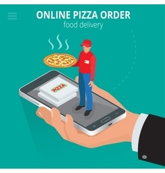 Online pizza Ecommerce concept - order food vector image vector image