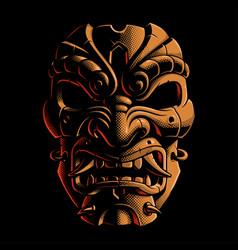 samurai warrior mask color version 2 vector image vector image