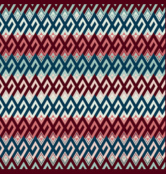 tribal ethnic multicolor seamless pattern vector image vector image
