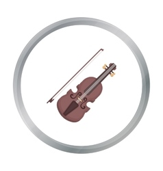 Violin icon in cartoon style isolated on white vector image