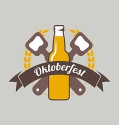 Beer festival Oktoberfest celebrations retro style vector image