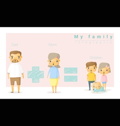 Family background and infographic 2 vector image vector image