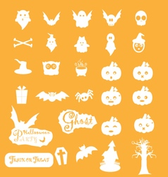Halloween icon sets vector image vector image